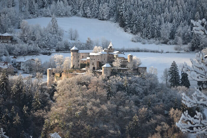 Prosels Castle in Winter