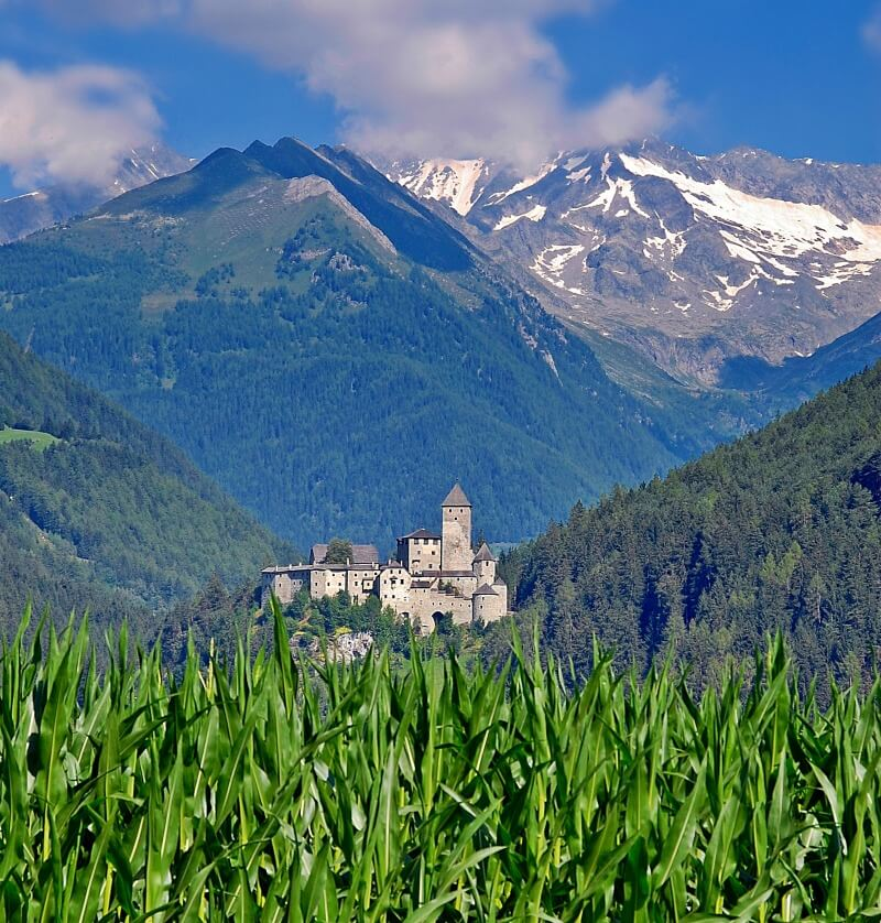 Castle Taufers in the Alps of South Tyrol