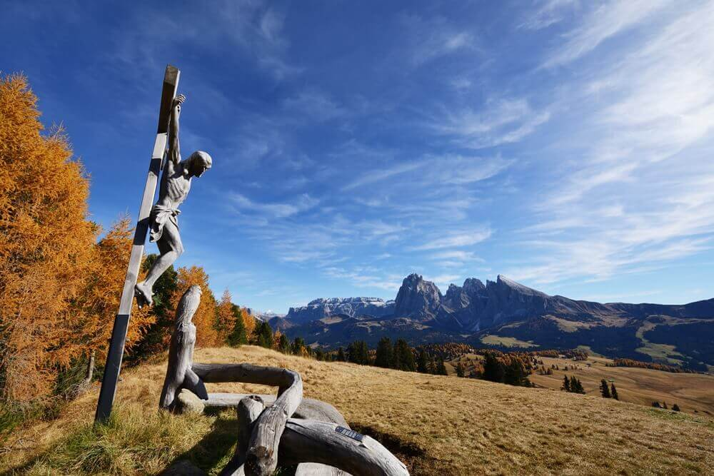 Wayside Shrine in Seiser Alm, South Tyrol, Italy