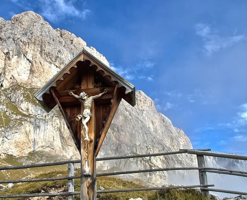 Wayside Shrine in the Dolomites