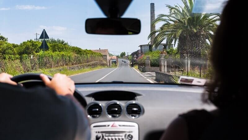 Italians drive on the right side of the road