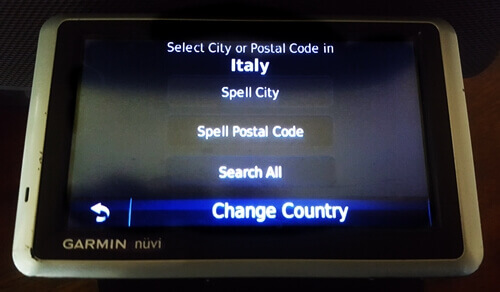 Driving in Italy with a GPS