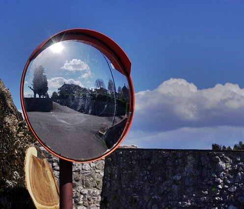 Road Mirror in Italy
