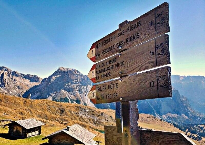 South Tyrol Trail Signs