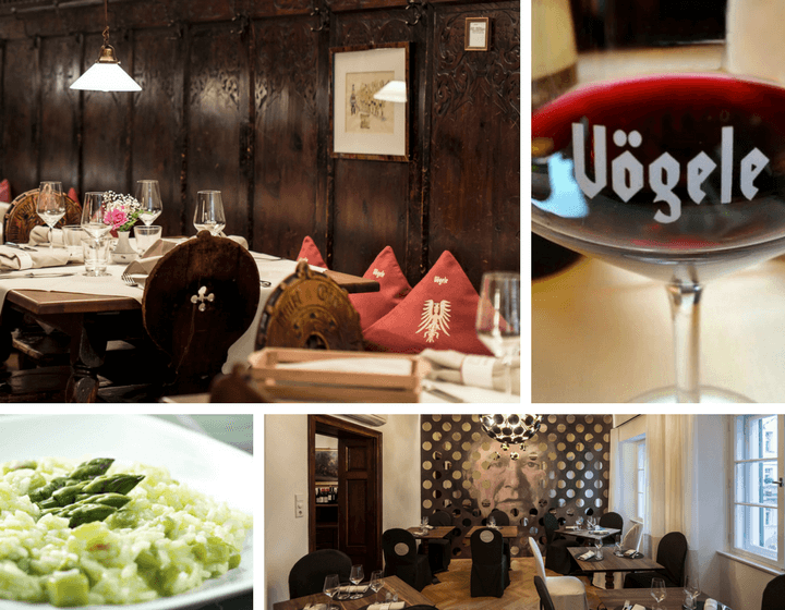 Experience a true South Tyrolean meal with a glass of the region's celebrated wine at Wirtshaus Vögele.