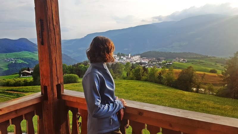 Enjoying a lovely view of Lajen in South Tyrol