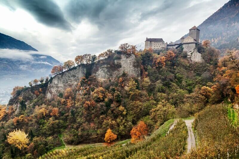 Tirol Castle in autumn