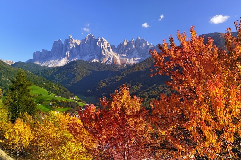 Geisler Peaks in Autumn