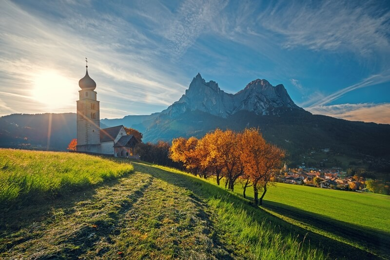 St. Valentin Church in the Dolomites