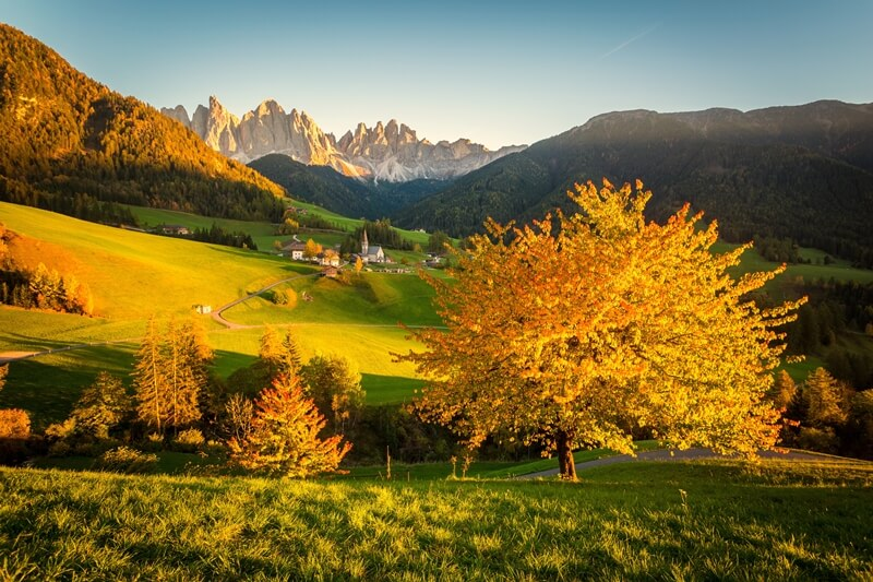 Val Di Funes Hiking in Autumn