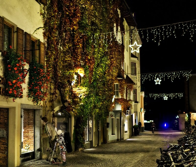 Alley in Brixen, Italy