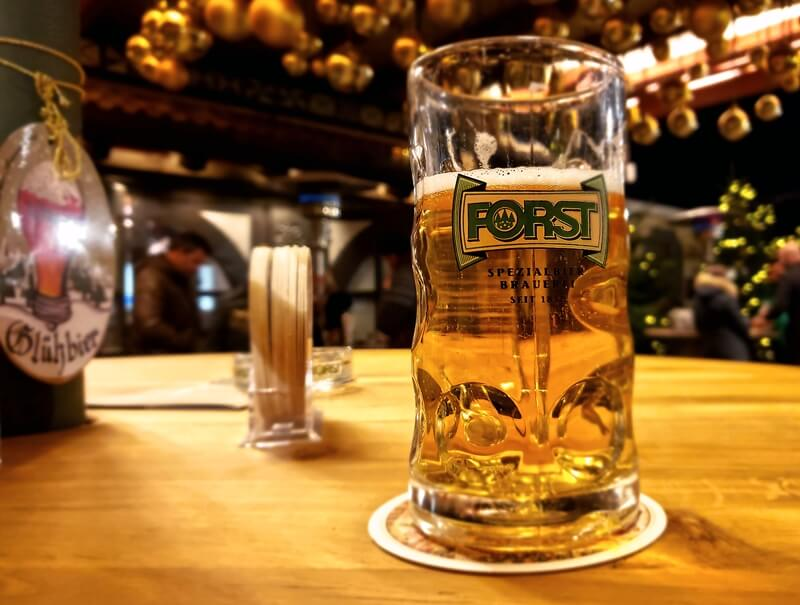 Forst Beer at the Christmas Forest in Algund