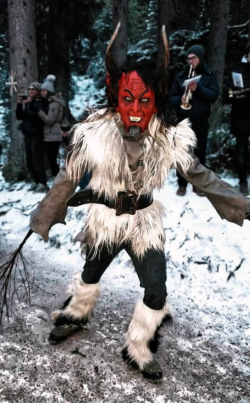Krampus at Lake Carezza