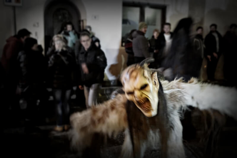 Krampus night in Margreid