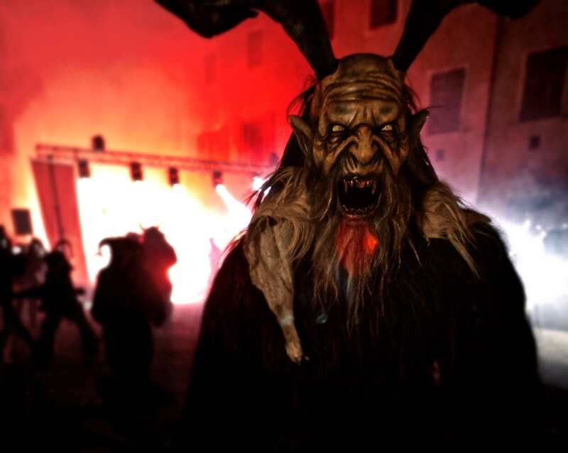 Krampus run in South Tyrol, Italy