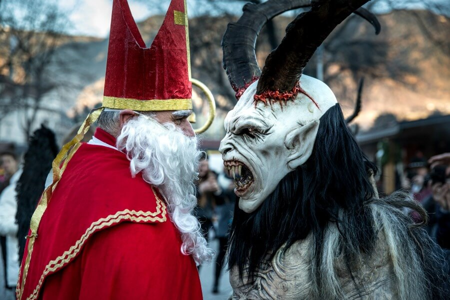 St. Nicholas Meeting with Krampus
