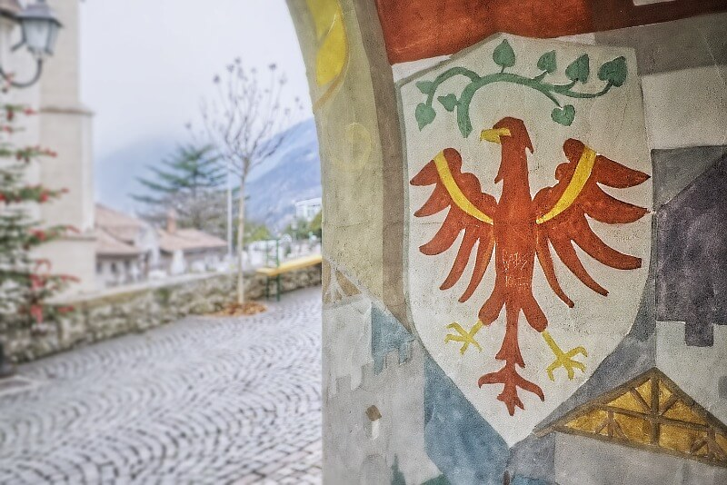 South Tyrol Coat of Arms Fresco