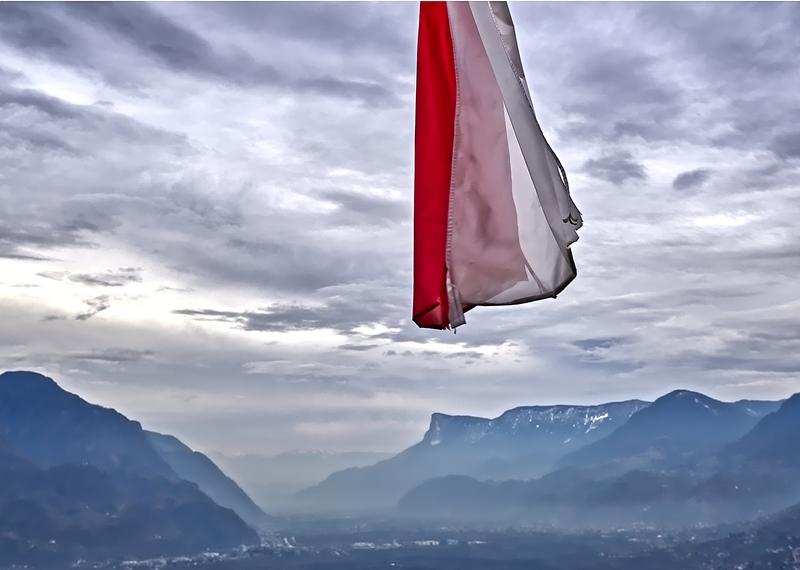 South Tyrol Flag at Castle Tirol