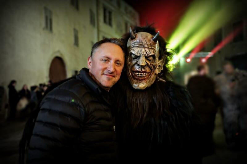 Vin with a Krampus