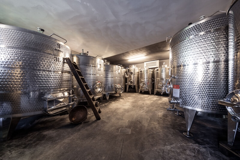 Weingut Dona Fermentation Tanks