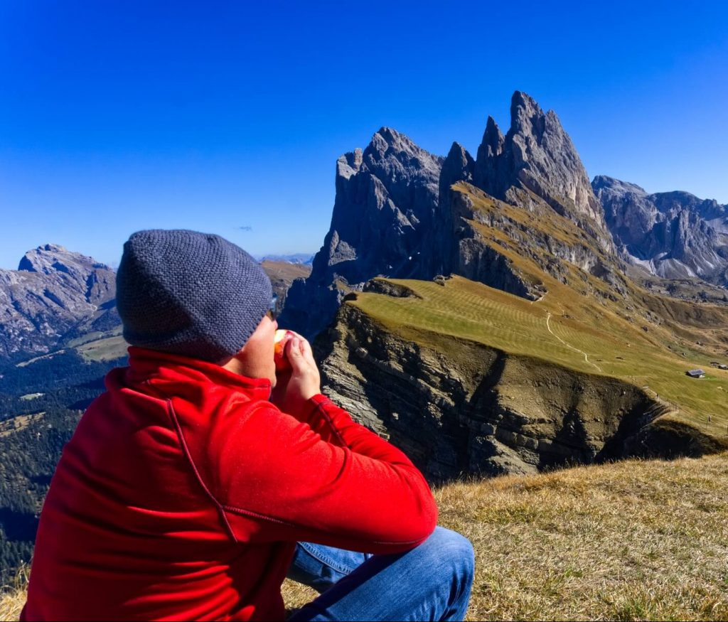 Hiking in Seceda in South Tyrol