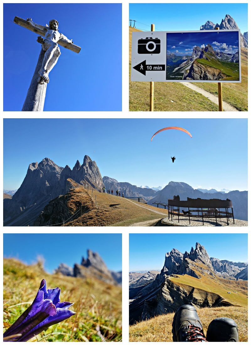 hiking seceda in the dolomites