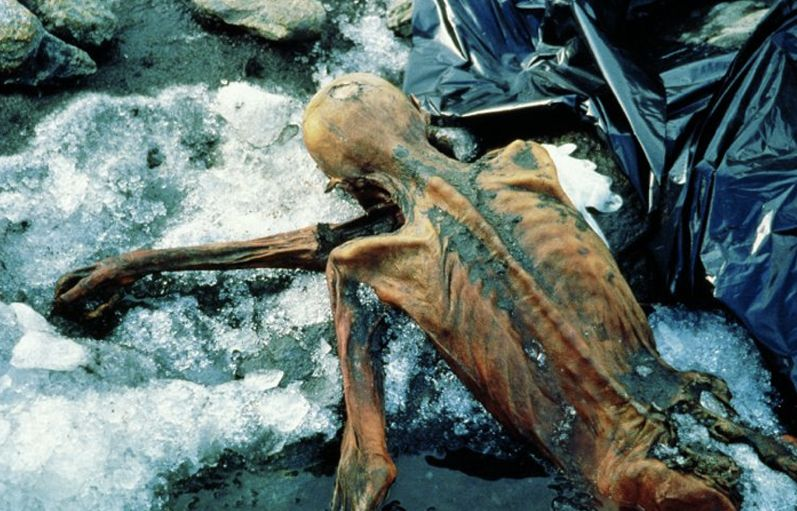 The discovery site of Otzi