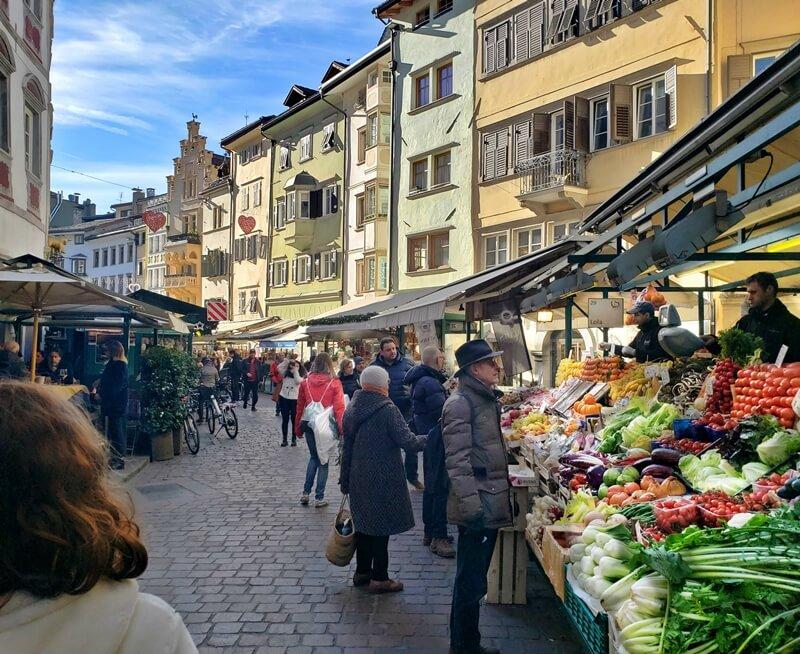 Bolzano Streetside Market