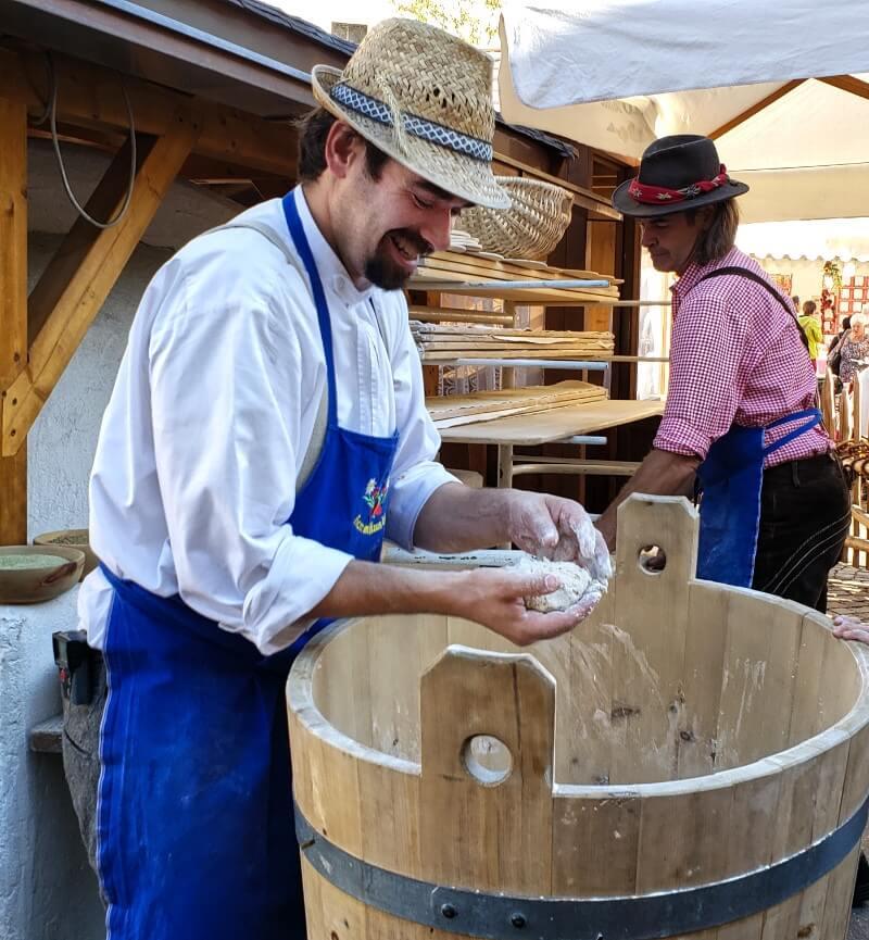 Baker in Brixen Making Dough