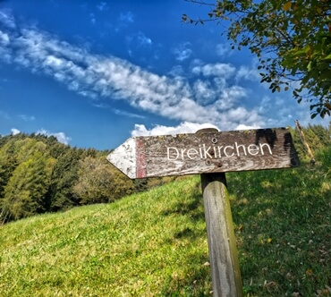Dreikirchen Sign Post