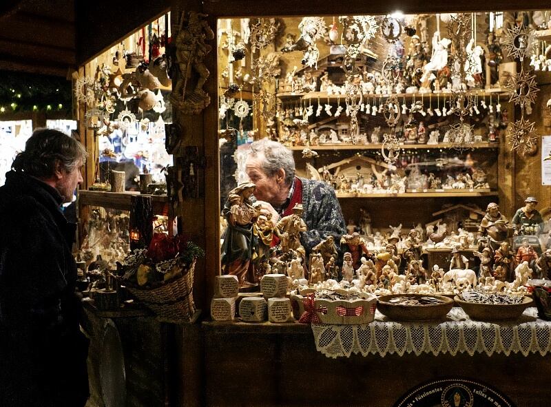 Italy Christmas Market Woodcarvings