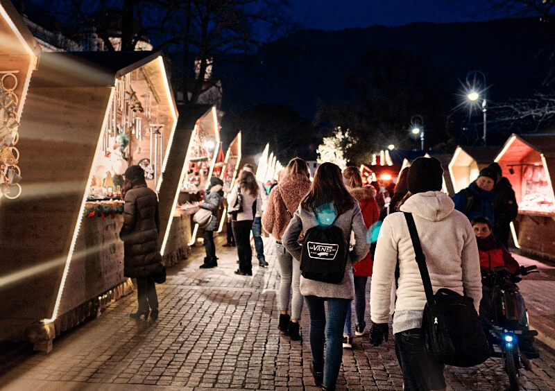 Walking the Christmas Market in Merano, Italy