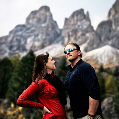 Kate & Vin in South Tyrol