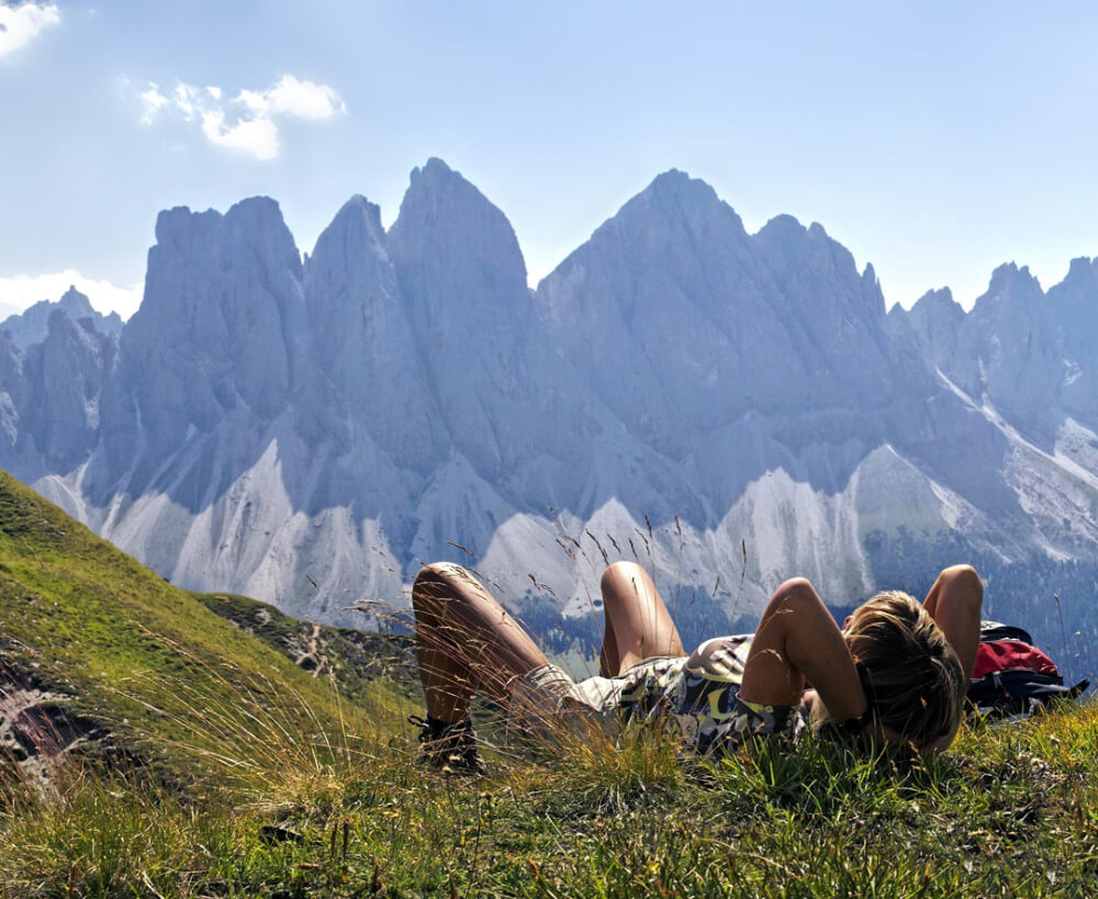 Relaxing in the Dolomites