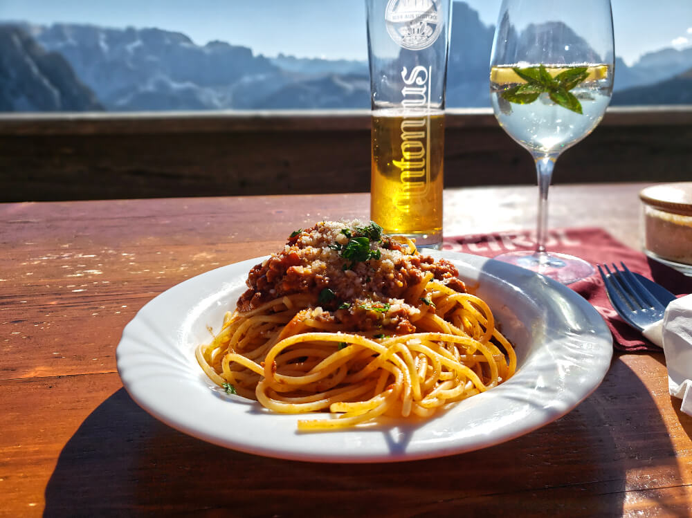 Pasta in the Italian Dolomites