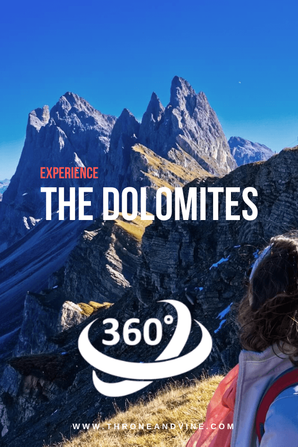 Virtually experience the Dolomites by diving into stunning 360-degree panoramas!