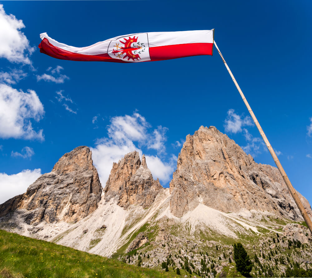 Red Eagle, South Tyrol Flag